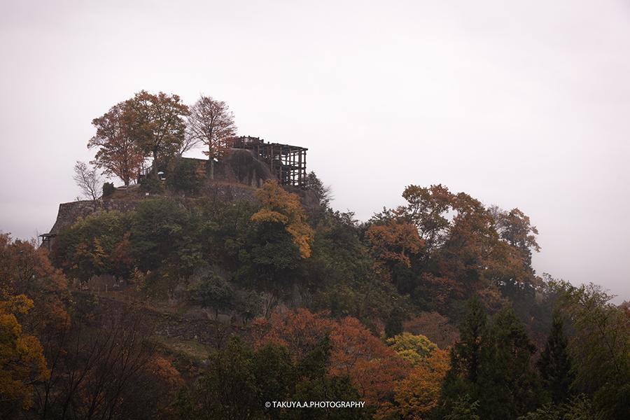 岐阜県の絶景 苗木城跡の紅葉