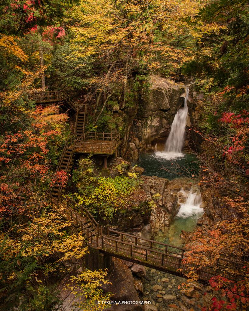 岐阜県の絶景 夕森公園 竜神の滝 紅葉