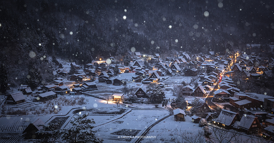 岐阜県の絶景 白川郷の雪景色