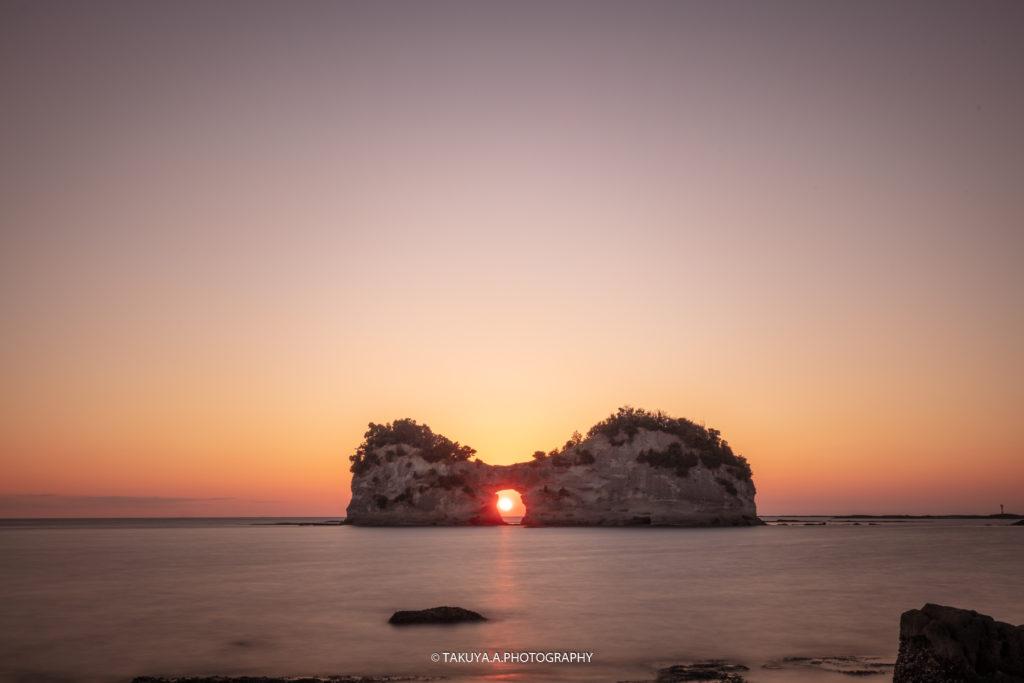 和歌山県の絶景 円月島の夕日3