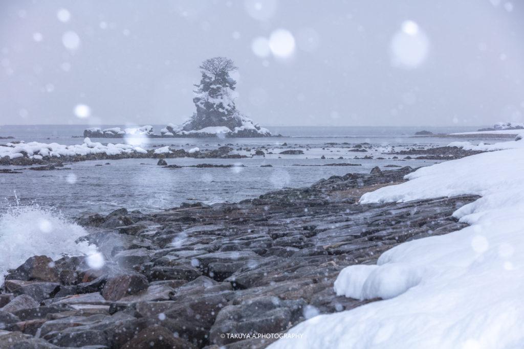富山県の絶景 雨晴海岸 雪景色 撮影スポット4