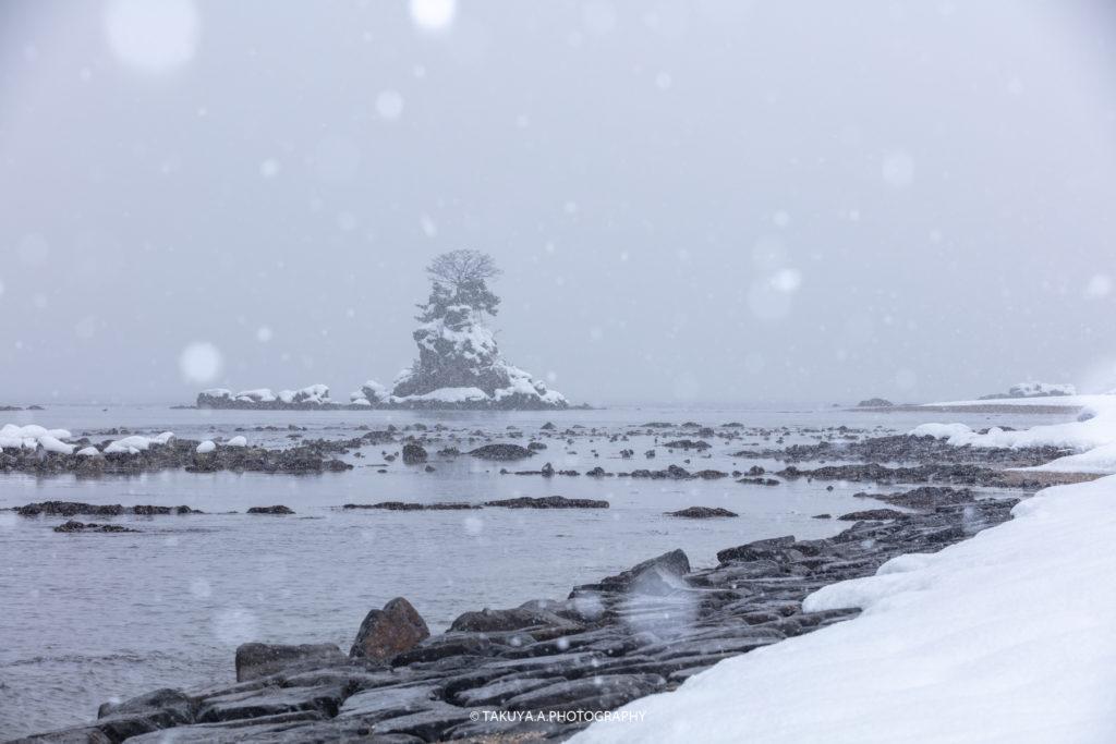 富山県の絶景 雨晴海岸 雪景色 撮影スポット6