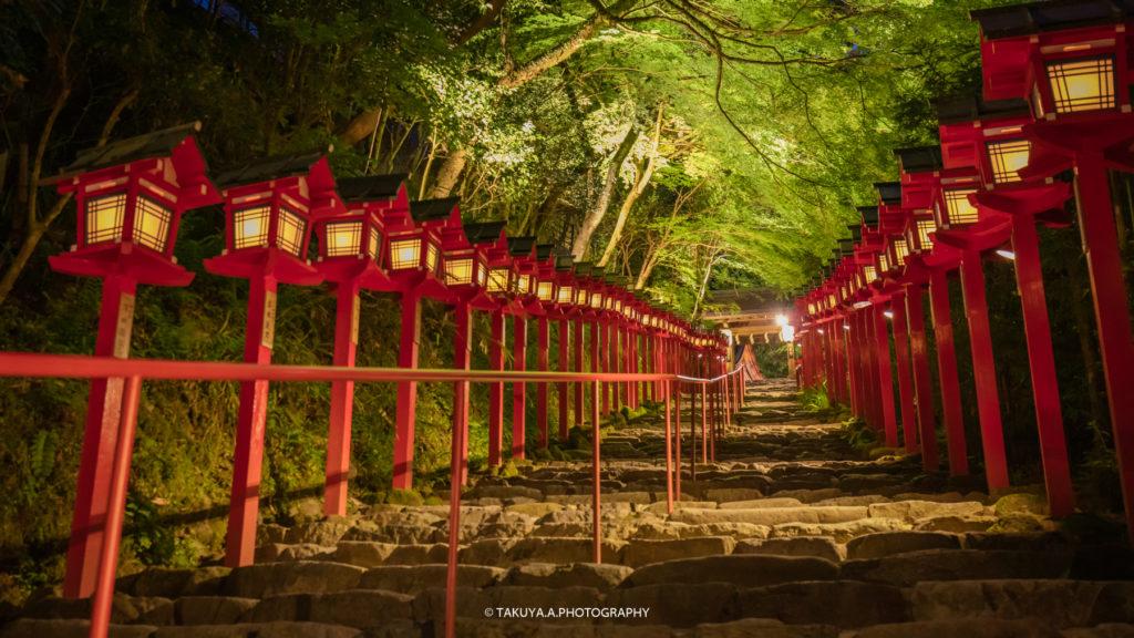 京都府の絶景 貴船神社の新緑