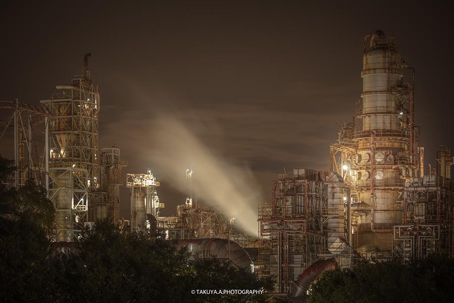 三重県の絶景 四日市工場夜景 大正橋