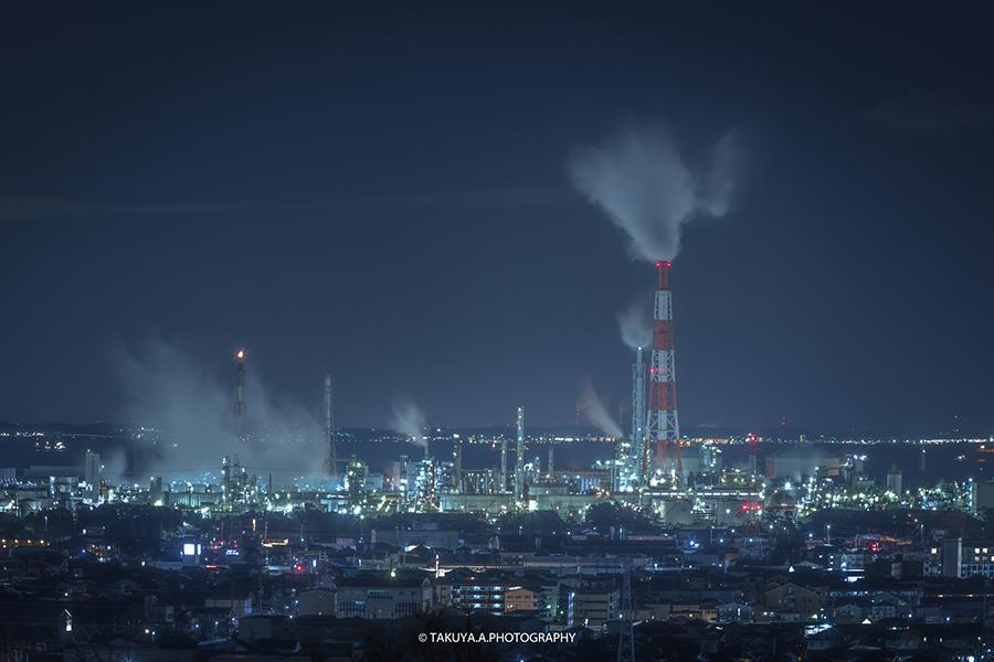 三重県の絶景 四日市工場夜景 垂坂公園