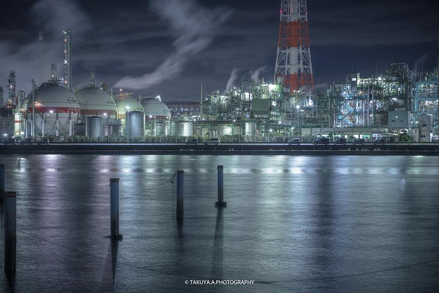 三重県の絶景 四日市工場夜景 四日市ドーム前