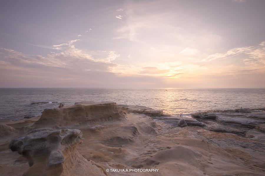 和歌山県の絶景 千畳敷の夕日